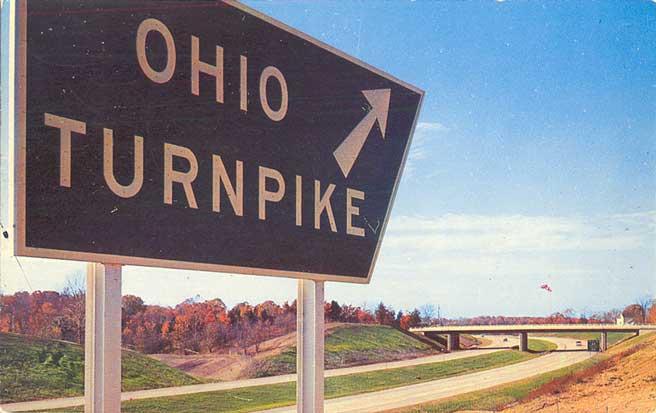 Postcard Gems: Ohio Turnpike Sign