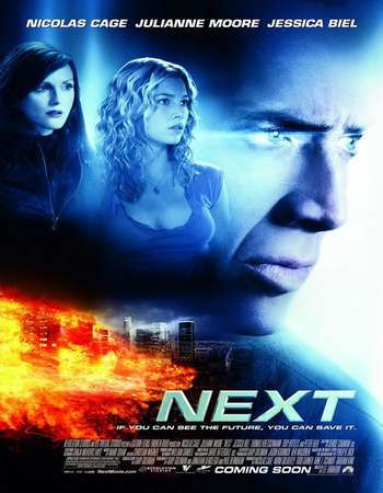Poster Of Next 2007 Dual Audio 350MB BRRip 720p HEVC Free Download Watch Online downloadhub.net
