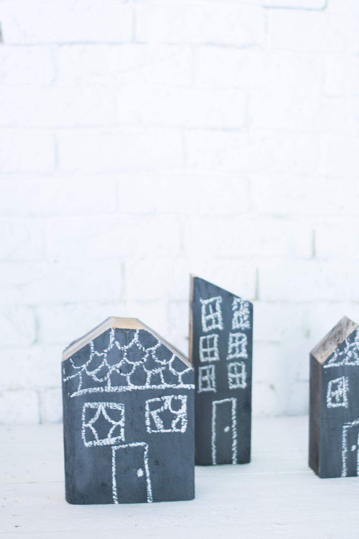 Ciudad casitas de madera diy