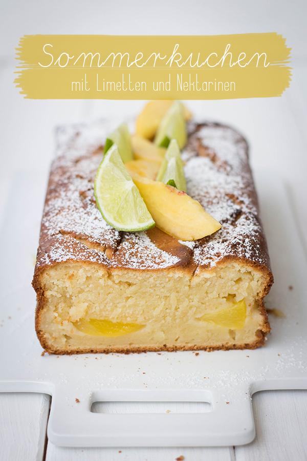 Sommerkuchen Mit Nektarinen Limetten Und Joghurt Seelenschmeichelei