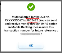 how to generate mmid number in sbi