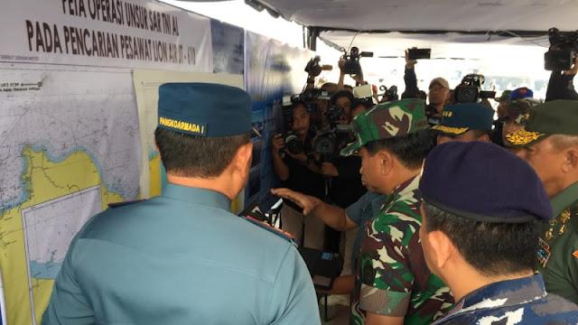 Panglima TNI: Ada Titik Terang Posisi Badan Pesawat Lion Air JT-610