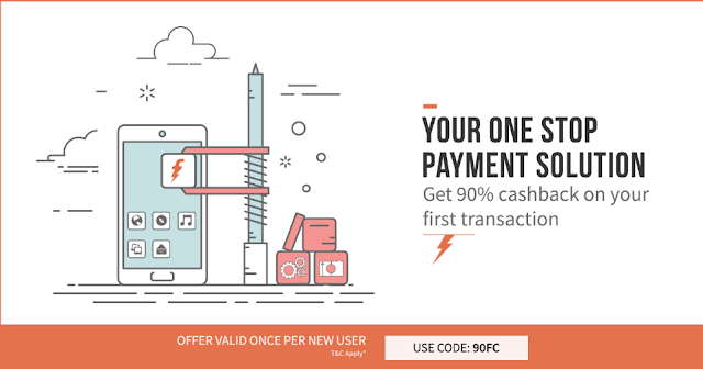 Freecharge 90% Cashback on First Mobile Recharge (Promo - 90FC)