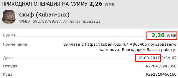 kuban-bux заработок на кликах