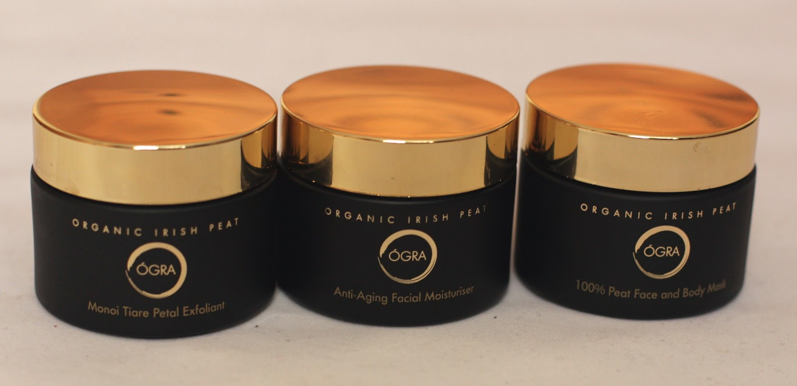 OGRA face and body scrub, moisturiser and mask
