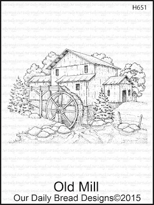 Our Daily Bread Designs stamp: Old Mill