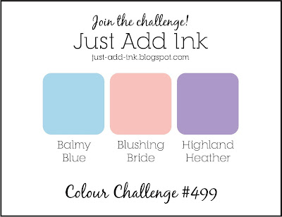 Jo's Stamping Spot - Just Add Ink Challenge #499