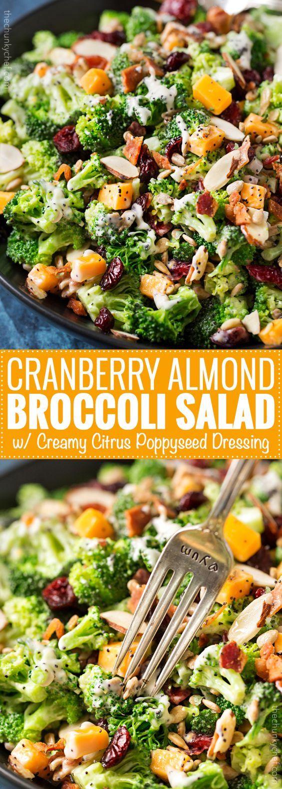 CRANBERRY ALMOND BROCCOLI SALAD RECIPE