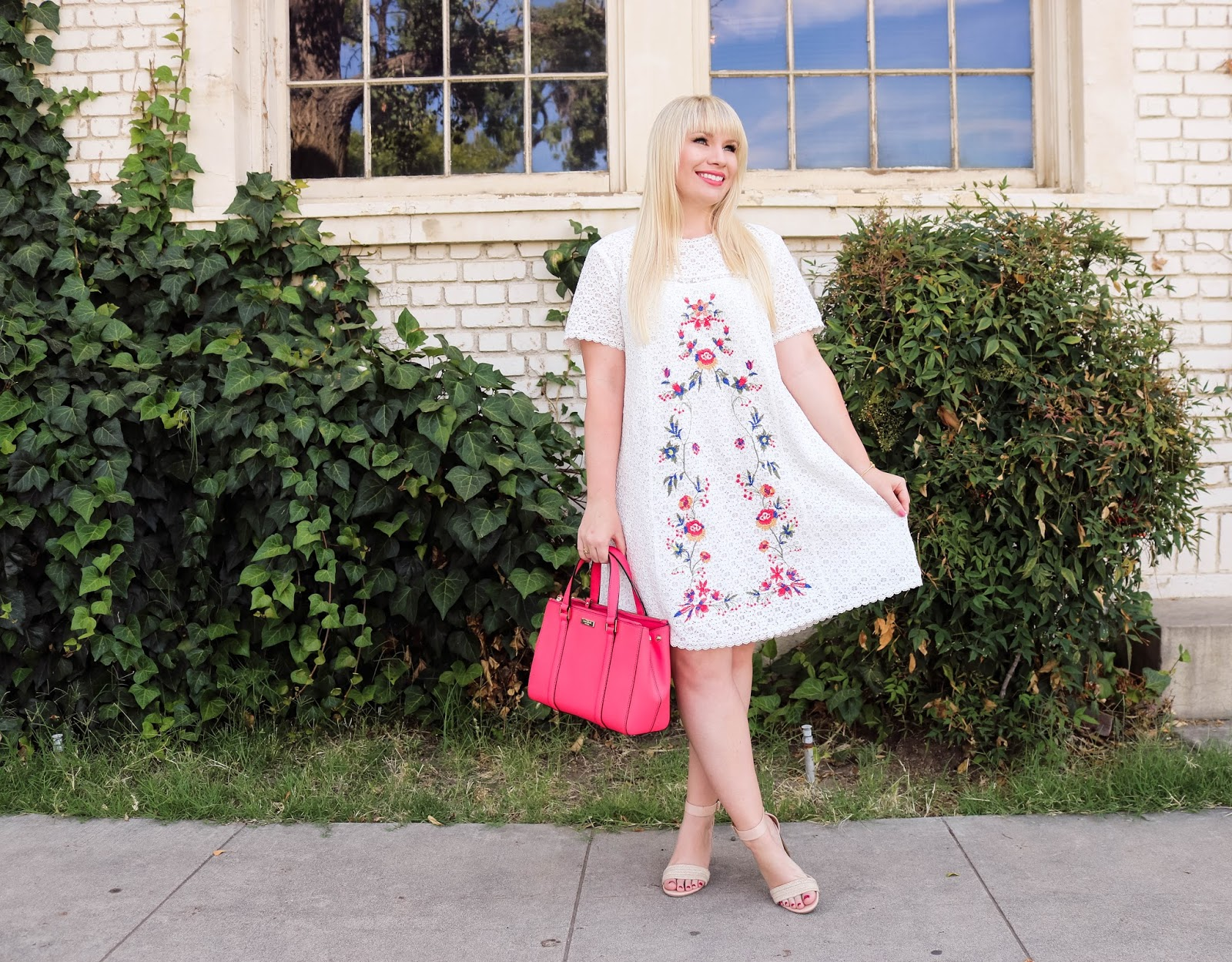 The Perfect White Embroidered Dress for Summer