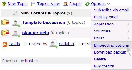 Free embeddable forums for blogger how to embed these forums for Embed a forum into your website