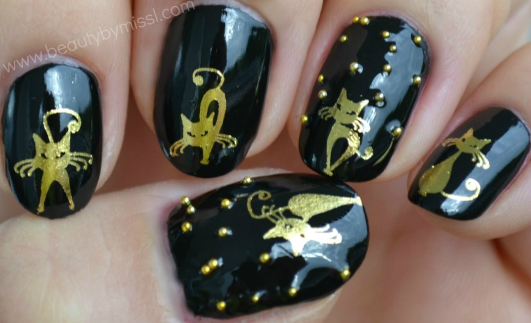 halloween nails, notd, nails of the day
