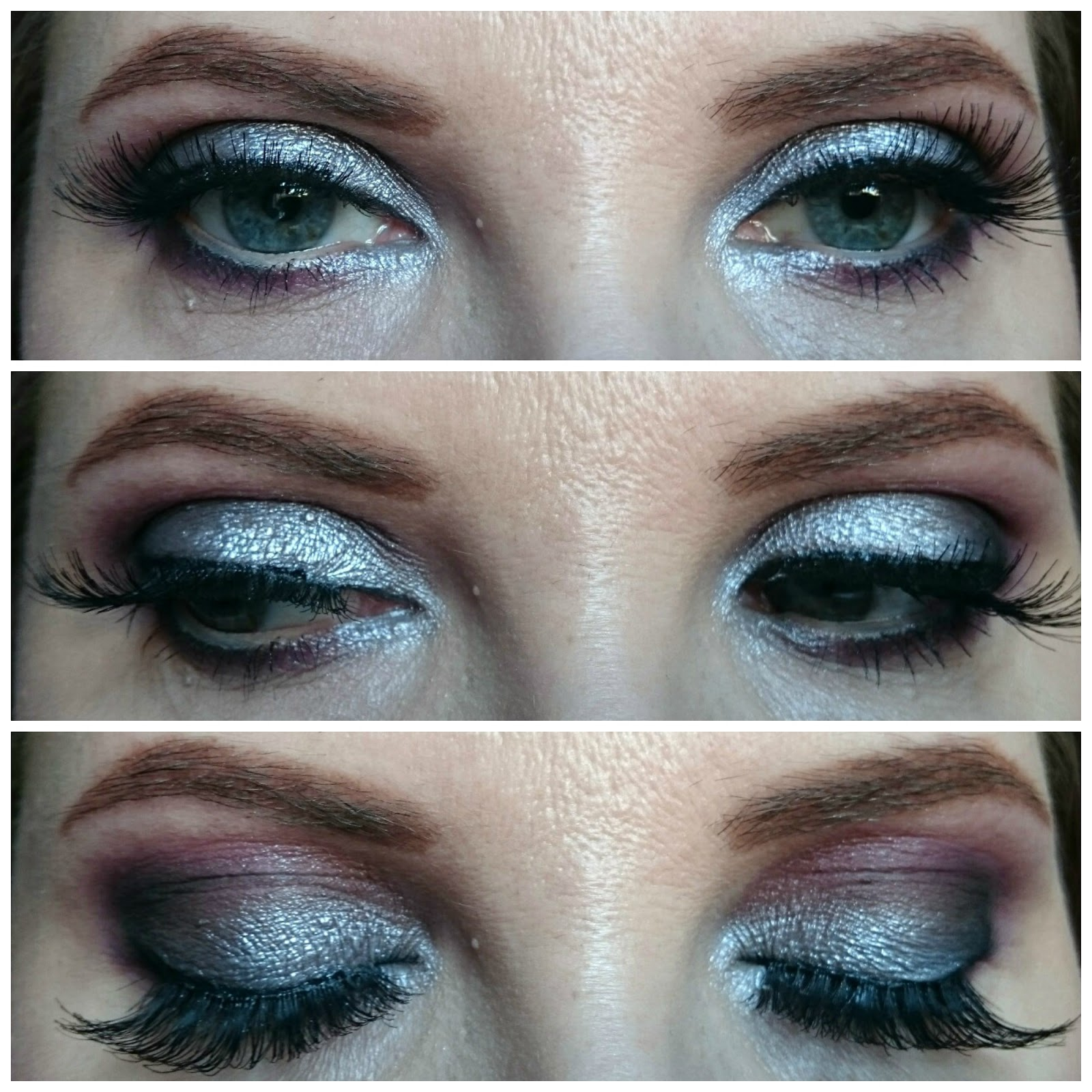 Grey tones makeup look