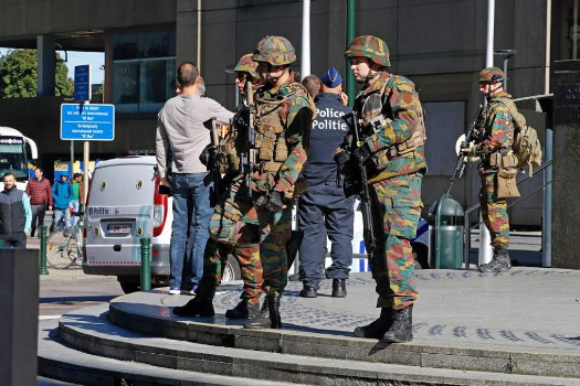 Terror Attack' In Brussels As Two Cops Are Stabbed