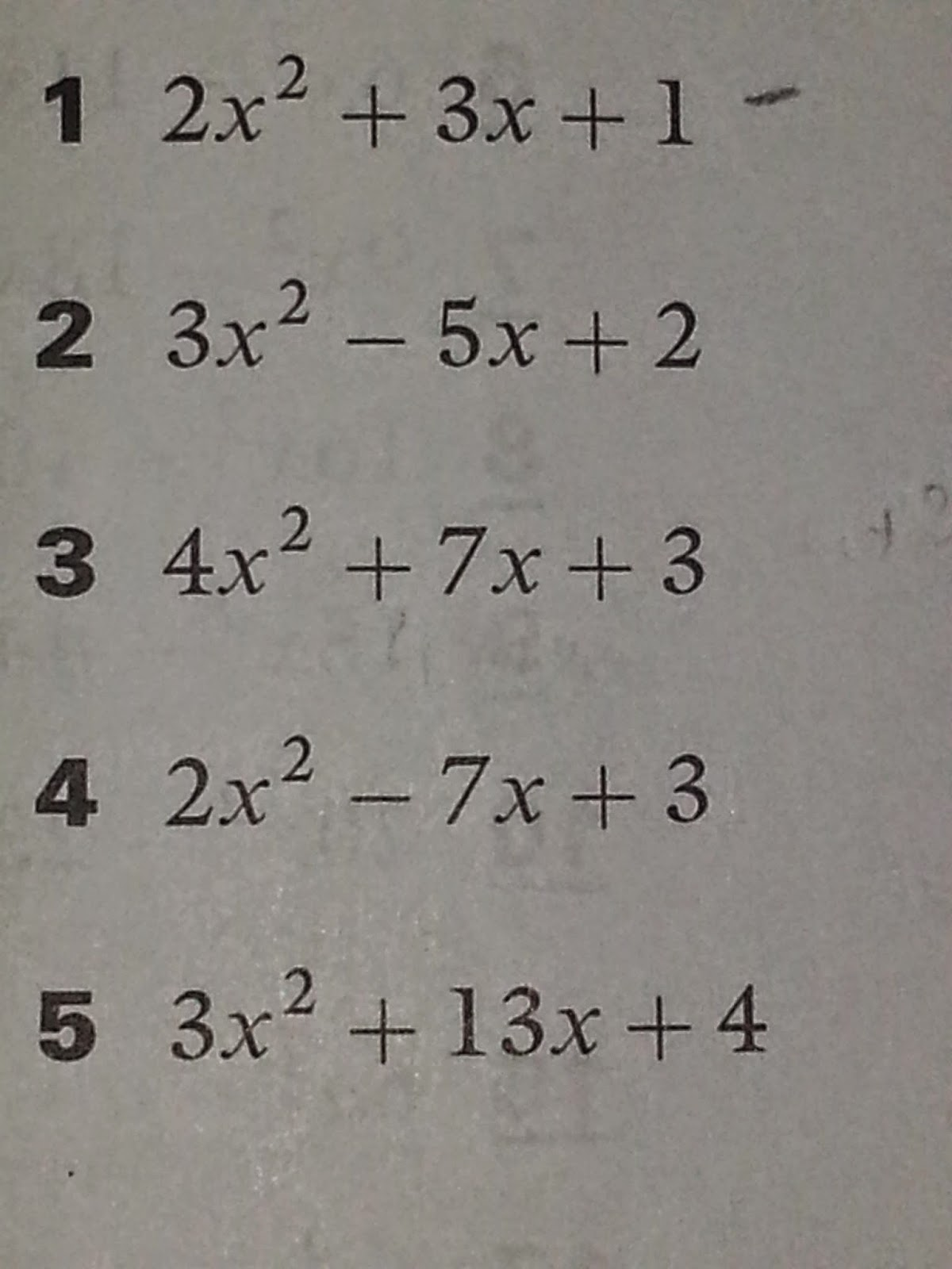 Math 10 Chapter 3 Solution Of Quadratic Equations