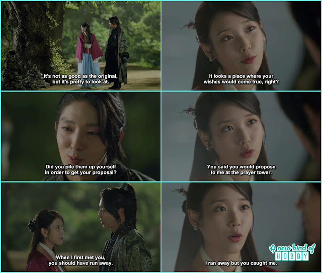 hae soo take wang so to the stone temple she made - Scarlet Heart Ryeo - Episode 18 (Eng Sub)