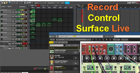Control Surface Recording - Mixcraft 8 Performance Panel
