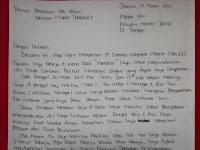 Surat Terbuka Kepada Yth: Kasudinnaker Jakarta Selatan, Perihal Pengaduan PHK Dalam Tekanan