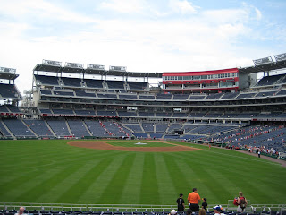 Center to home at Nationals Park