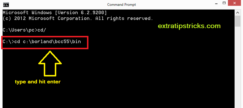 how to compile & execute c/c++ programs in windows using borland c++ compiler.