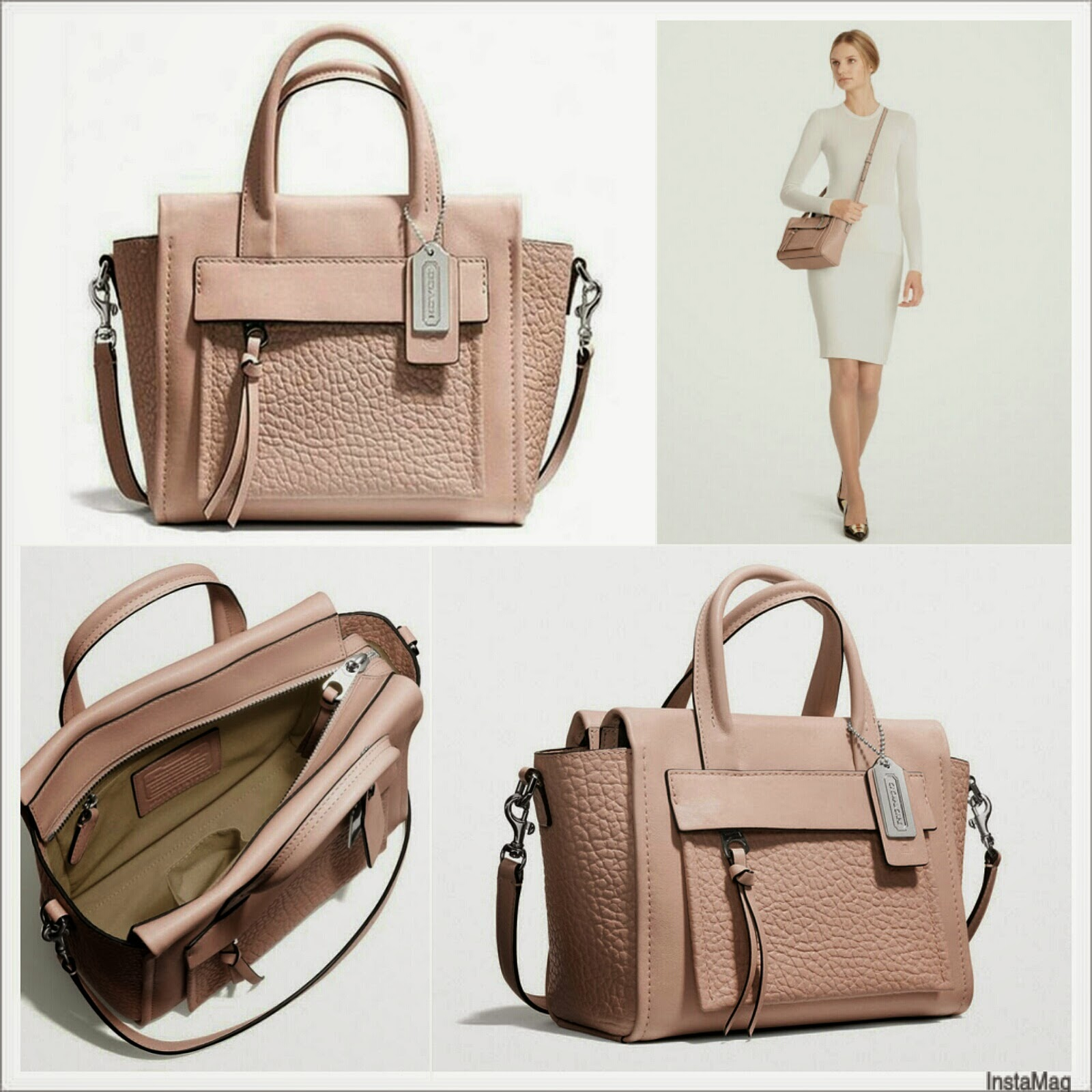 aebe03a0af ... Coach Bleecker Mini Riley Carryall in Leather F27923 ...