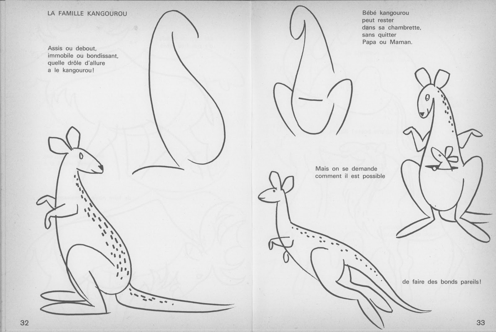 Manuels anciens erich h lle dessinons les animaux du zoo - Dessiner un kangourou ...