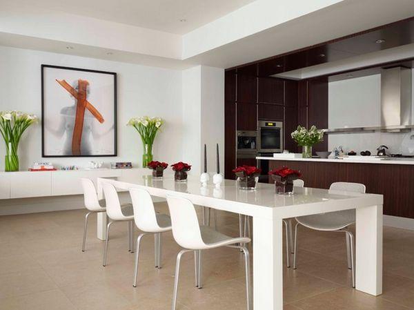 Desain Lantai Modern Ruang Makan Minimalis