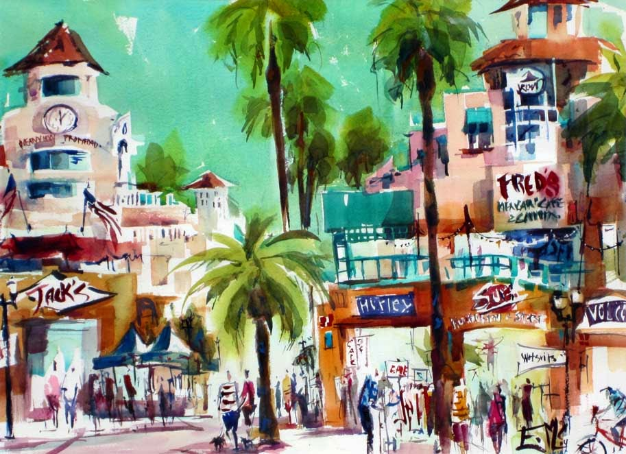 Watercolors by Eileen: Shopping on PCH