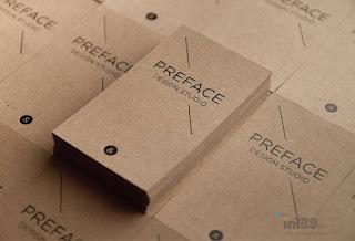 Card visit dập nổi trên chất liệu giấy kraft
