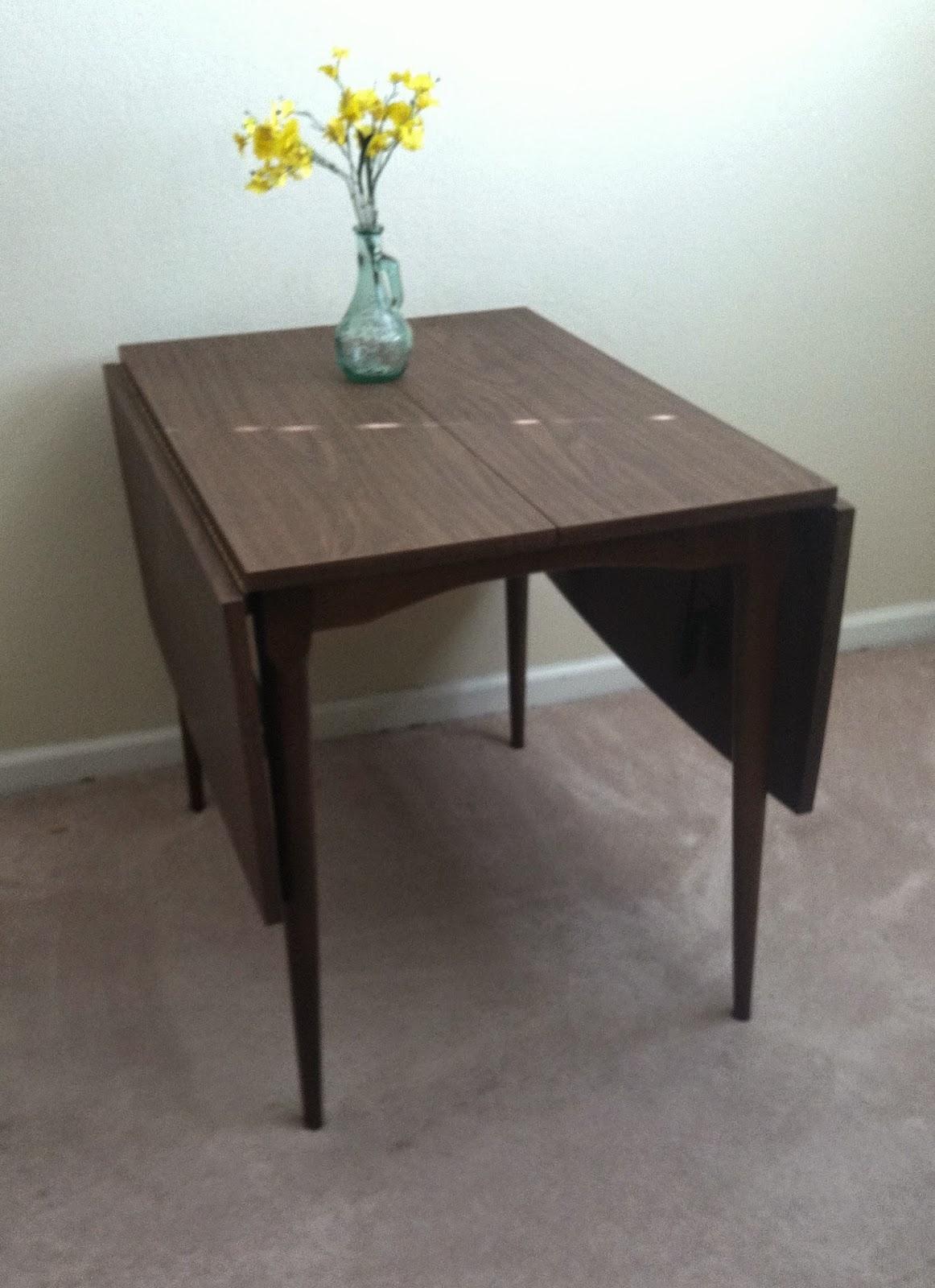 Refurnitured : Mid Century Modern Drop Leaf Table $60