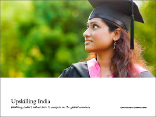 Source: IBM. Cover for the Upskilling India report.