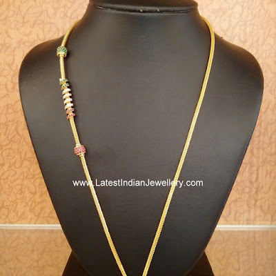 Thali Chains With Spiral Mogappu Latest Indian Jewellery