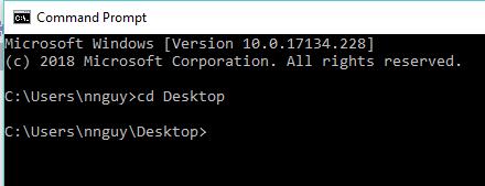 change directory to desktop