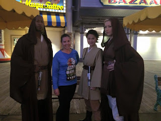 Me posing with some Jedi while running the runDisney Star Wars rebel challenge 10k