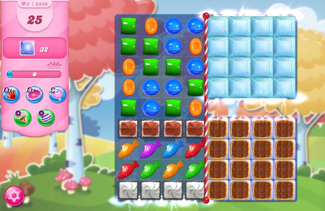 Candy Crush Saga level 6258