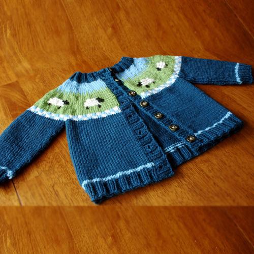 Sheep Yoke Baby Cardigan - Free Pattern