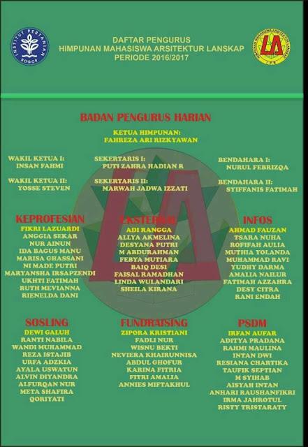 Daftar Pengurus HIMASKAP Periode 2016/2017