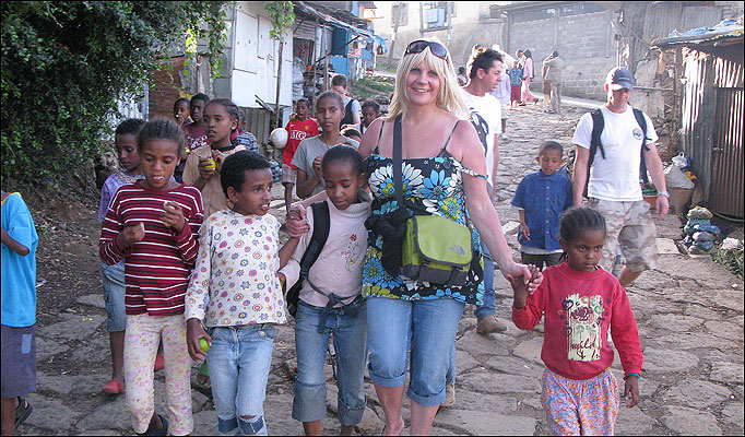 Single Mum Shares £7.5m Lottery Winnings with Ethiopian Orphans