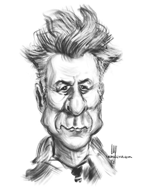 Dustin Hoffman caricature by Artmagenta