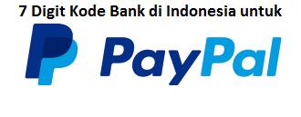Daftar 7 Digit Kode Bank Di Indonesia Untuk Daftar Paypal Sitakom Blog