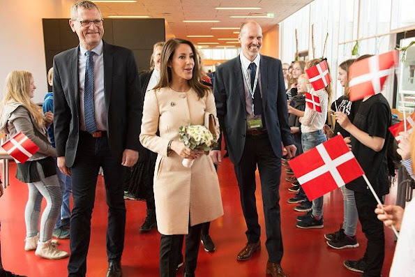 Danish Princess Marie wore Tara Jarmon Coat, and Sergio Rossi Ankle boots, Carried By Malene Birger Clutch bag