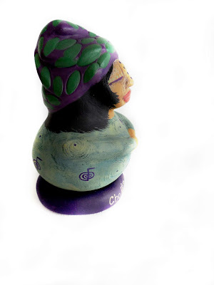 OOAK Reiki Prayers Spirit Doll sculpted from Gourd and Clay