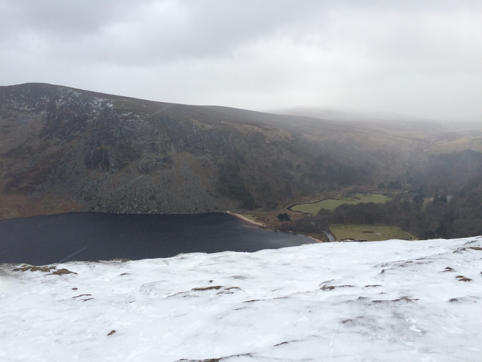 View on Lough Tay, Ireland - old military road