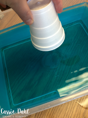 This fun hands-on science experiment is sure to fool some of your students. Use this simple cup and water experiment to prove that gases really do have mass. It is the perfect addition to any Matter Unit!