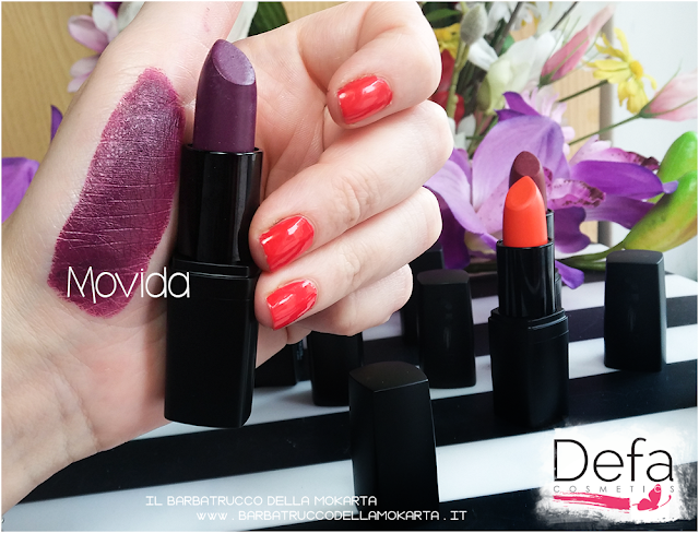 swatches movida Defa cosmetics lipstick