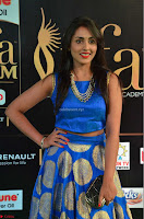Madhu Shalini Looks Super Cute Slim trim Blue Choli Ghagra IIFA Utsavam Awards 01.JPG