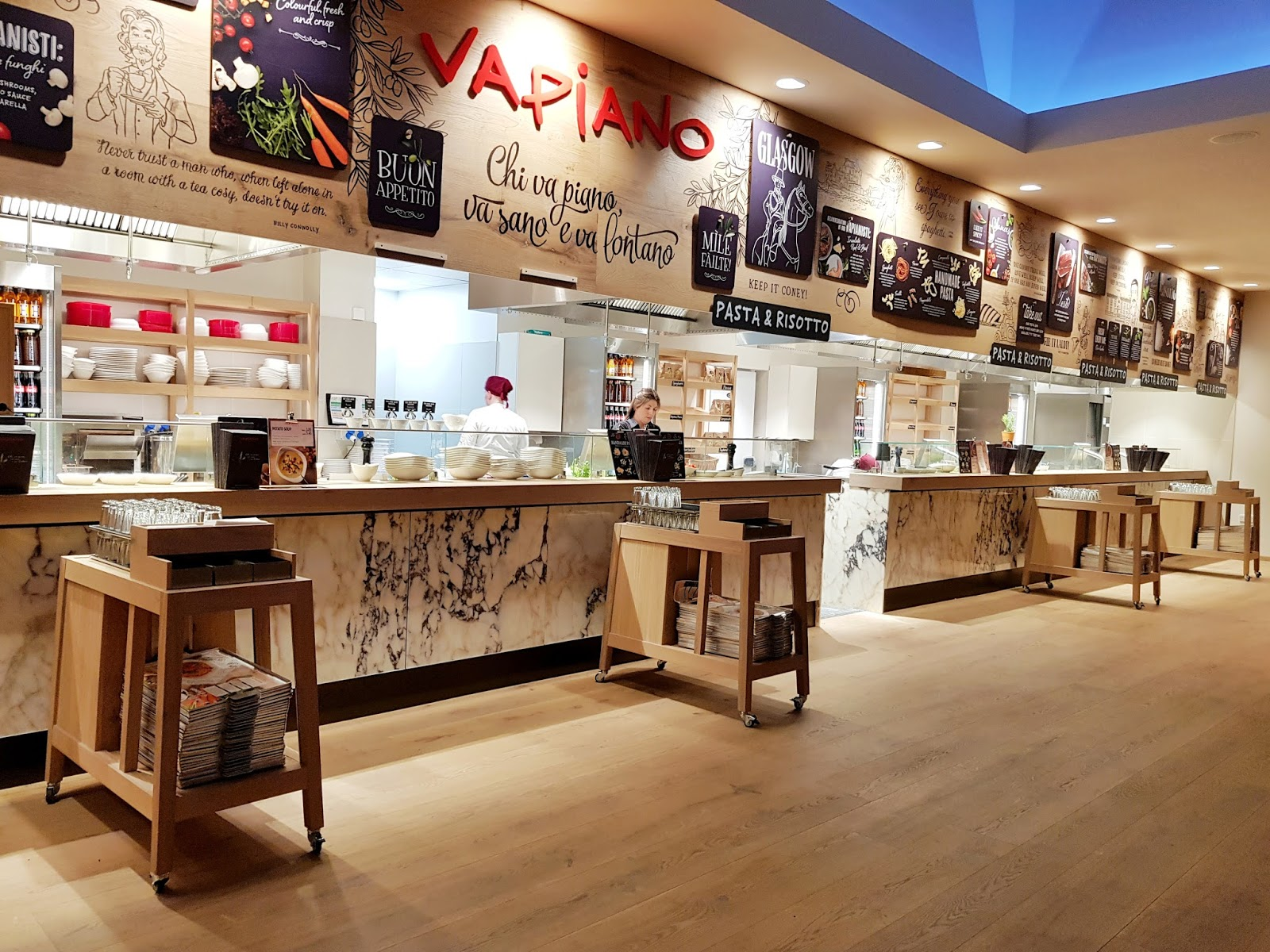 Vapiano in Glasgow: The New Mate Date Spot