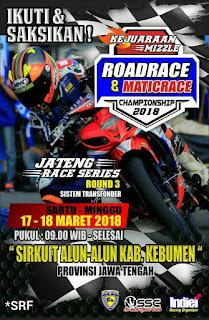 Jateng Race Series Round 3 Kebumen 17-18 Maret 2018