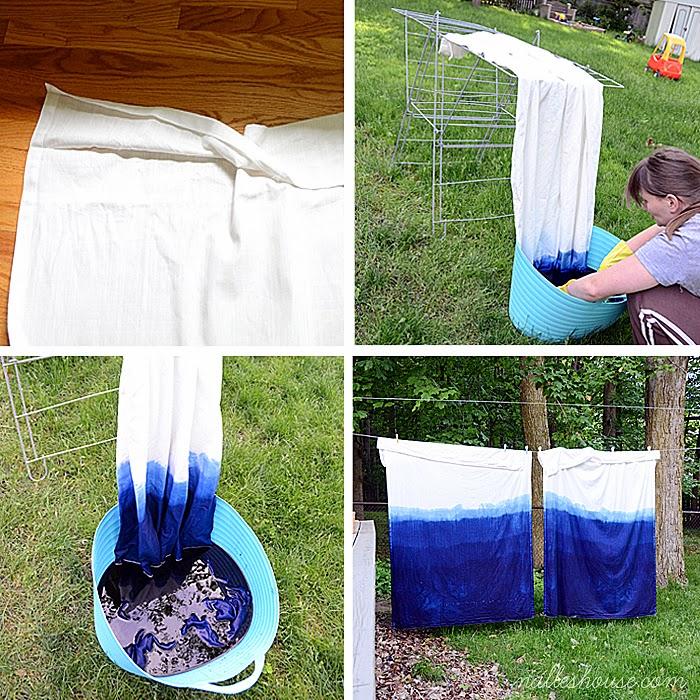Dip dye curtains