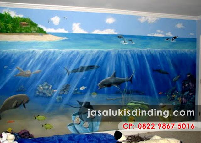 Lukisan pemandangan bawah laut