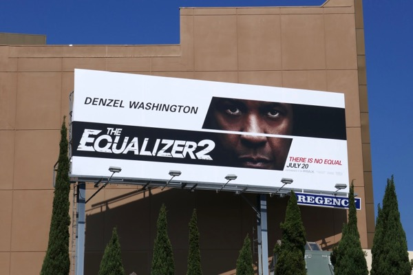 Equalizer 2 movie billboard